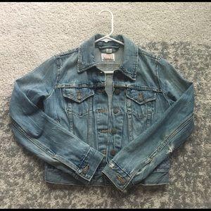 Levi's Distressed Denim Jacket - XS